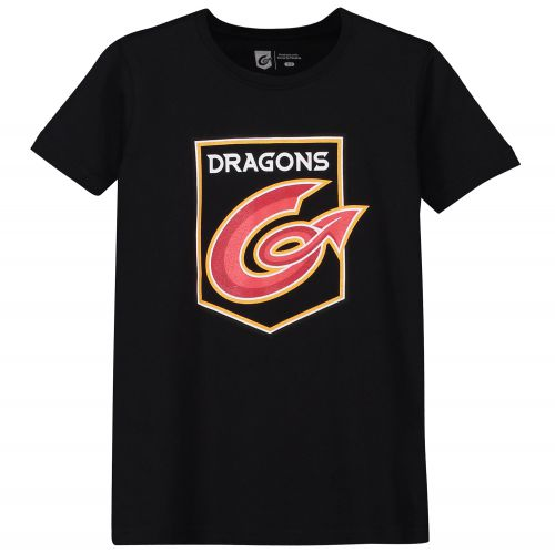 Dragons Rugby Core Large Print T-Shirt - Black - Junior