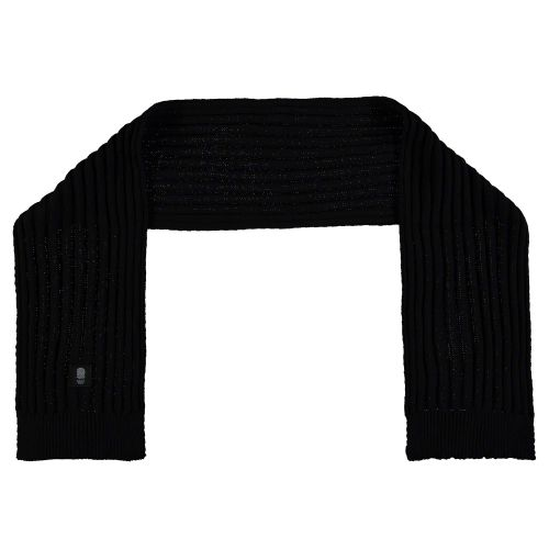 England Black Ribbed Scarf