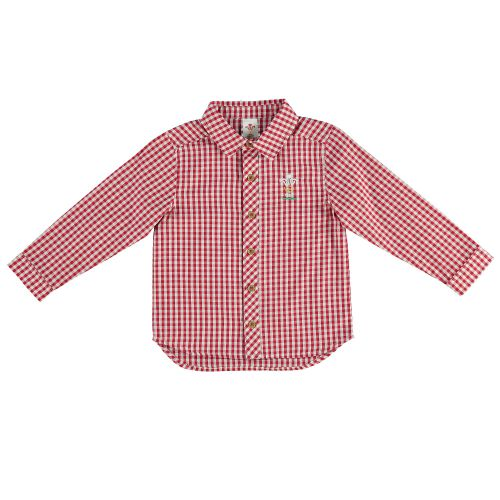 Welsh Rugby Check Shirt - White/Red - Infant