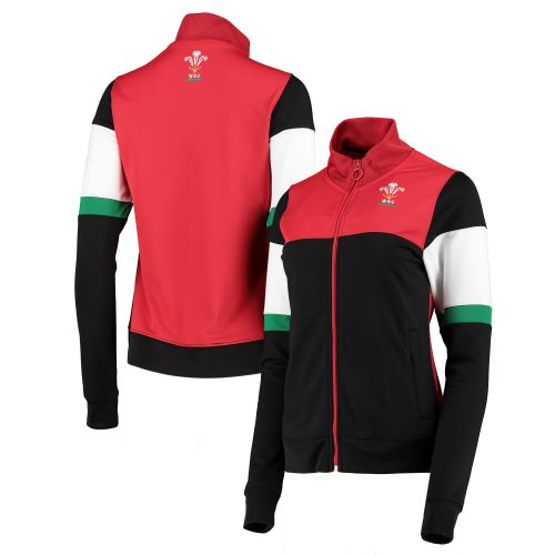 Welsh Rugby Contrast Track Jacket - Black - Womens