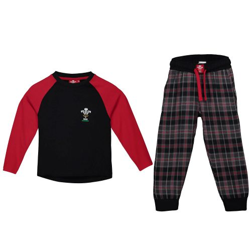 Welsh Rugby LS T-Shirt and Pant Pyjama Set - Girls