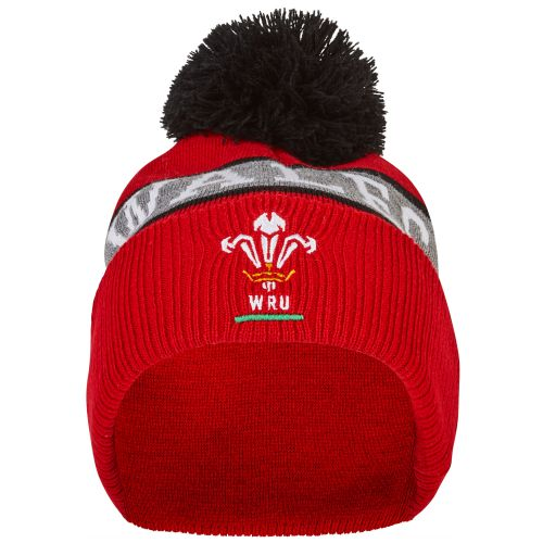 Welsh Rugby Text Beanie - Red/Grey/Black - Adult