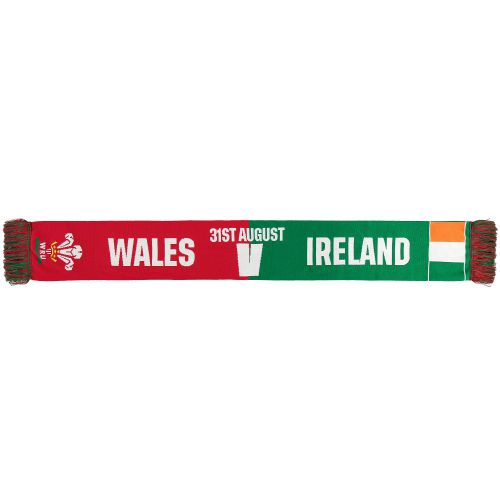 Welsh Rugby v Ireland Friendship Scarf - Red/Green - Adult