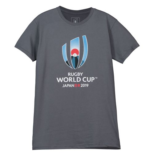 Rugby World Cup 2019 Large Logo T-Shirt - Charcoal - Junior
