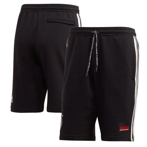 Germany 3 Stripe Sweat Shorts - Black