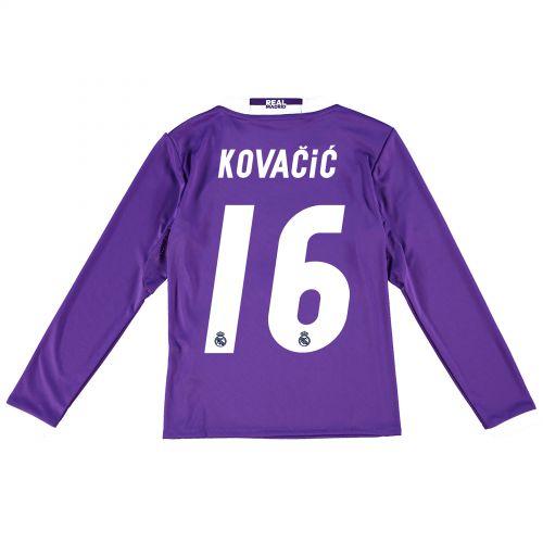 Real Madrid Away Jersey 2016/17 - Kids - Long sleeve - with Kovacic 16 printing