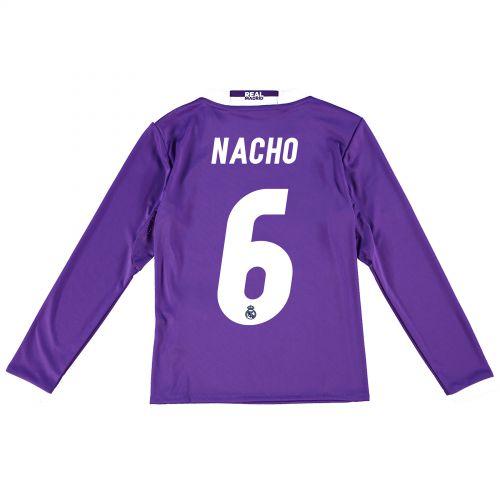 Real Madrid Away Jersey 2016/17 - Kids - Long sleeve - with Nacho 6 printing