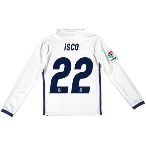 Real Madrid Home Jersey 2016/17 - Kids - Long sleeve - with Isco 22 printing