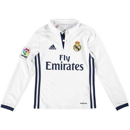 Real Madrid Home Shirt 2016-17 - Kids - Long Sleeve