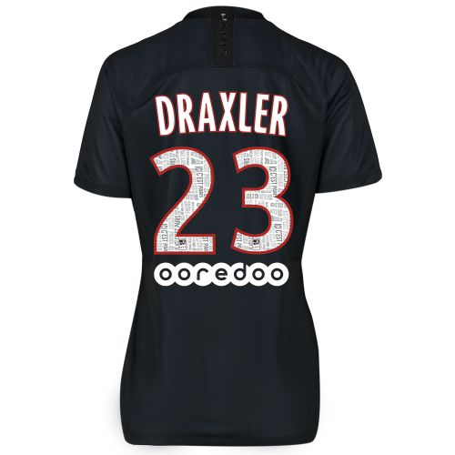 Paris Saint-Germain 2019-20 Fourth Stadium Shirt - Womens with Draxler 23 printing