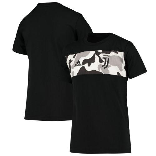 Juventus Logo Graphic Tee - Black - Kids