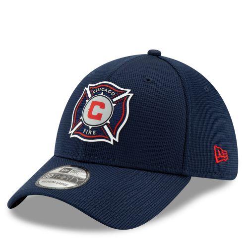 Chicago Fire New Era Mesh 39THIRTY Stretch Fit Cap - Blue