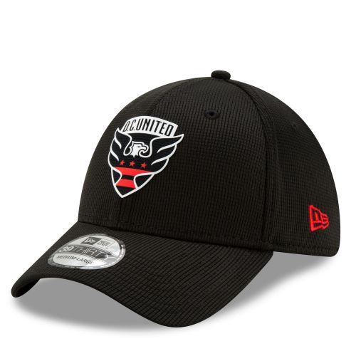 DC United New Era Mesh 39THIRTY Stretch Fit Cap - Black