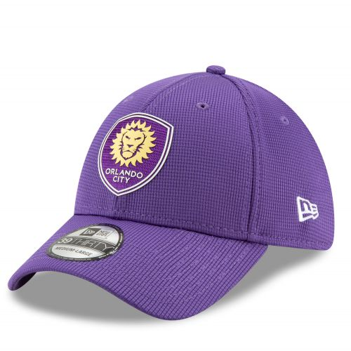 Orlando City SC New Era Mesh 39THIRTY Stretch Fit Cap - Purple