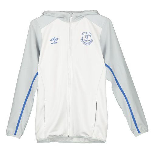 Everton Hooded Jacket - White - Kids
