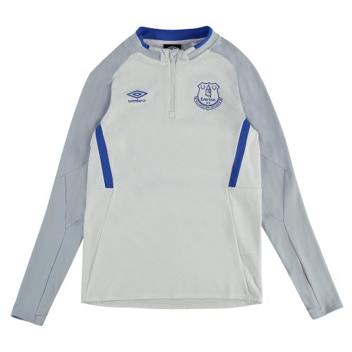 Everton Training Half Zip Sweatshirt - White - Kids