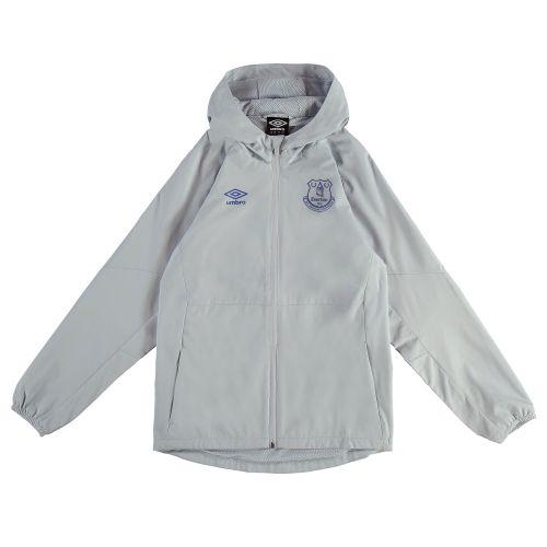 Everton Training Shower Jacket - Grey - Kids