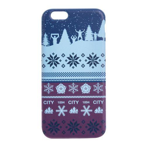 Manchester City Fan Fairisle Christmas iPhone 6-6S Phone Case