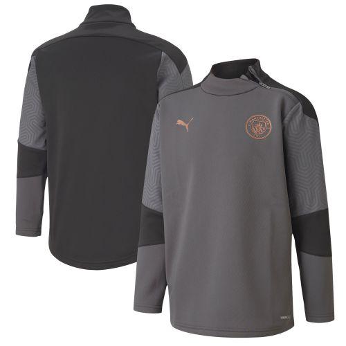 Manchester City Training Fleece - Dark Grey - Kids