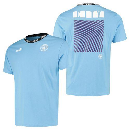 Manchester City Culture T-Shirt - Light Blue - Womens