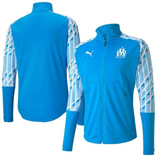 Olympique de Marseille Stadium Jacket - Sky Blue