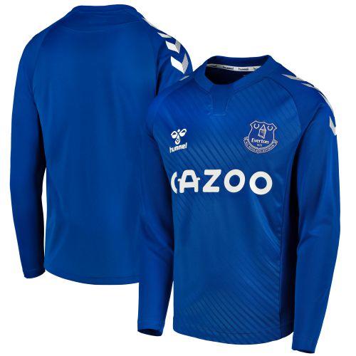 Everton Home Shirt 2020-21 - Long Sleeve - Kids