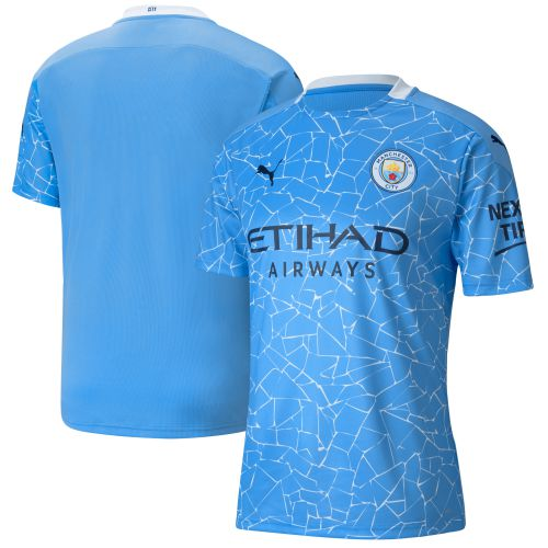 Manchester City Home Shirt 2020-21 with De Bruyne 17 printing