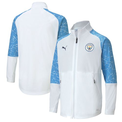 Manchester City Stadium Jacket - White - Kids