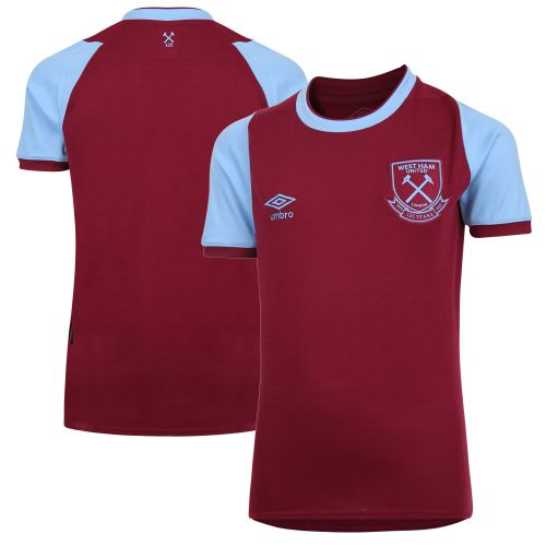 West Ham United Home Jersey 20-21 - Short Sleeve - Junior with Lanzini 10 printing