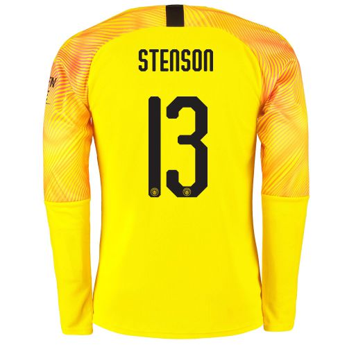 Manchester City Cup Third Goalkeeper Shirt 2019-20 with Stenson 13 printing