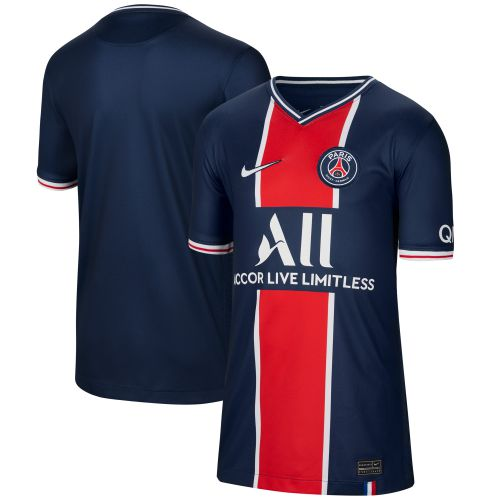 Paris Saint-Germain Home Stadium Shirt 2020-21 - Kids with Mbappé 7 printing