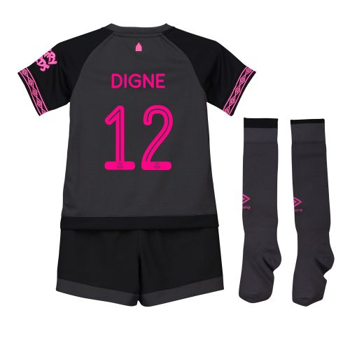 Everton Away Cup Infant Kit 2018-19 with Digne 12 printing