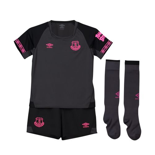 Everton Away Infant Kit 2018-19 with Kenny 43 printing