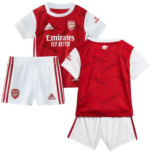 Arsenal Home Baby Kit 2020-21 with Martinelli 35 printing