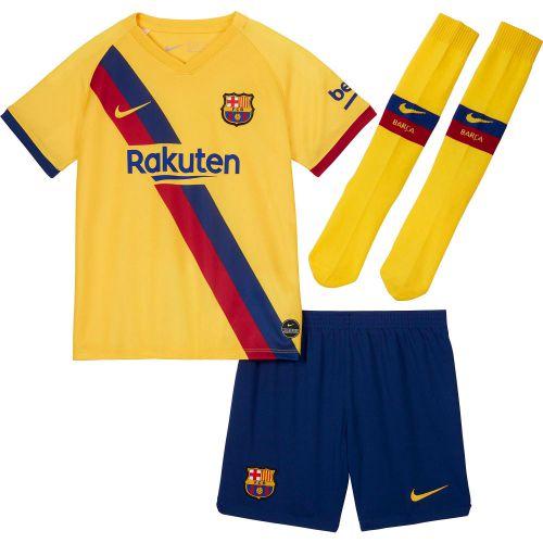 Barcelona Away Stadium Kit 2019-20 - Little Kids with Messi 10 printing