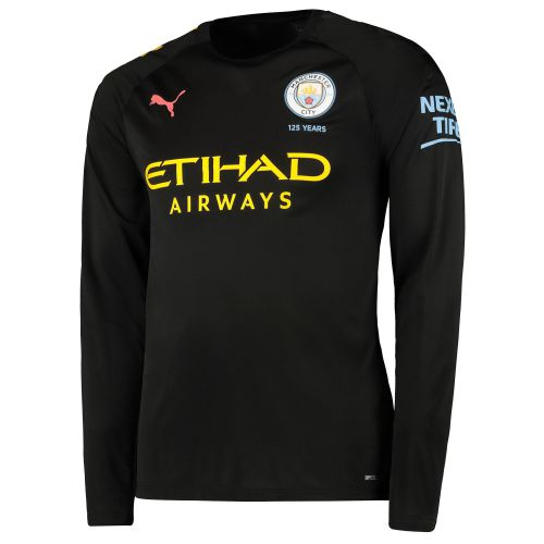 Manchester City Away Shirt 2019-20 - Long Sleeve with De Bruyne 17 printing