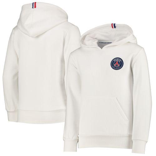 Paris Saint-Germain ESSENTIEL Crest Hoodie - White - Child