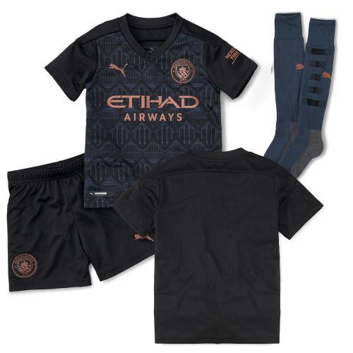 Manchester City Away Minikit 2020-21 with De Bruyne 17 printing