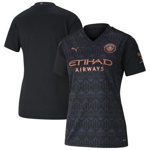 Manchester City Away Shirt 2020-21 - Womens with Sterling 7 printing