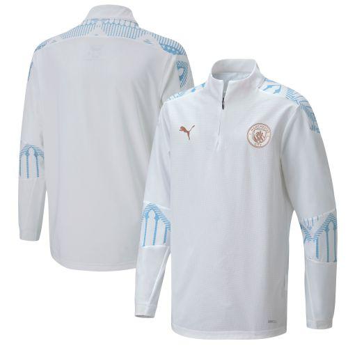 Manchester City Stadium 1/4 Zip Top - White - Kids