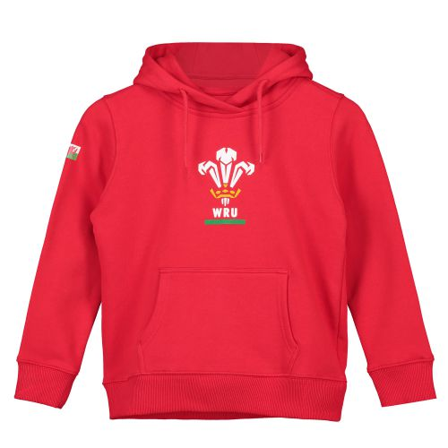 Welsh Rugby Core Overhead Hoodie - Red - Junior