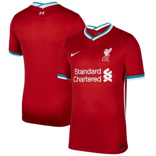 Liverpool Home Stadium Shirt 2020-21 with Minamino 18 printing