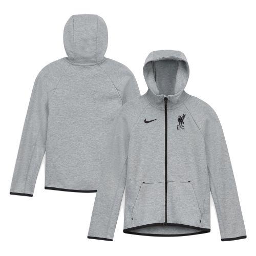 Liverpool Tech Fleece Hoodie - Dark Grey - Kids