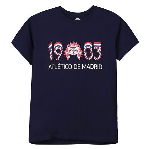 Atlético de Madrid 1903 Printed T-Shirt Navy - Boys