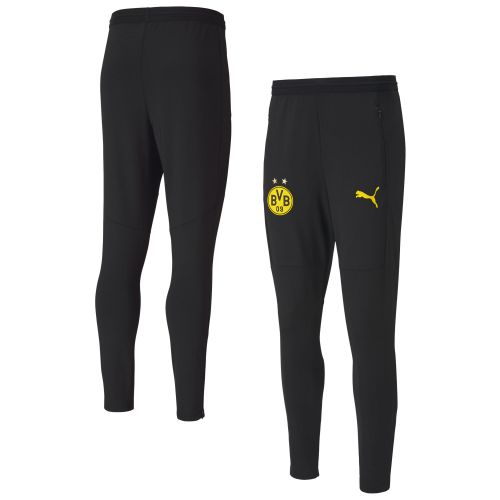 Borussia Dortmund Training Pants - Black (W/ Zip Pockets)