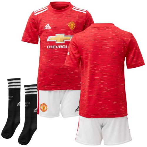 Manchester United Home Mini Kit 2020-21 with James 21 printing