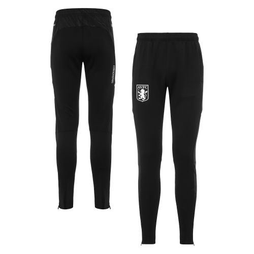 Aston Villa Staff Training Zip Pants - Black - Kids