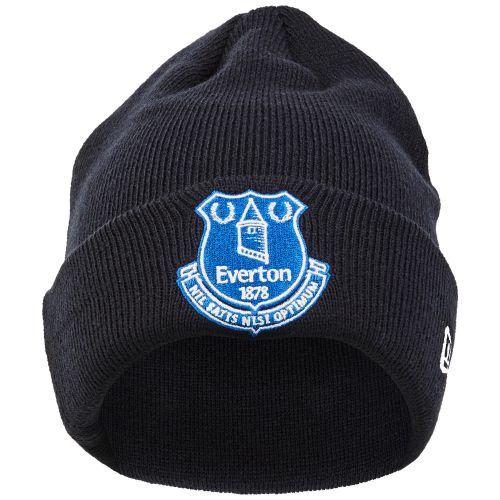 Everton New Era Core Crest Cuff Knit Beanie - Navy - Junior