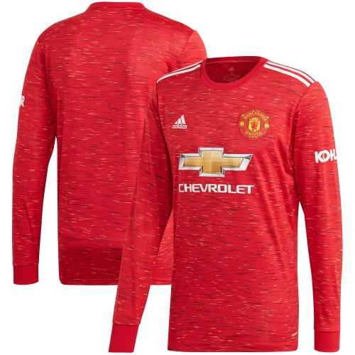 Manchester United Home Shirt 2020-21 - Long Sleeve - Kids
