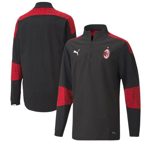 AC Milan Stadium 1/4 Zip Top - Black